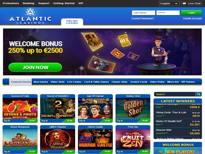 atlantic casino bonus codes