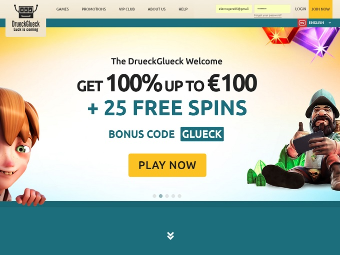 DrueckGlueck Casino Review 10 Free Spins No Deposit Bonus