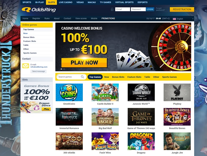 OddsRing Casino Review