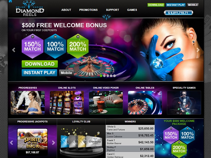 Diamond Reels Online Casino
