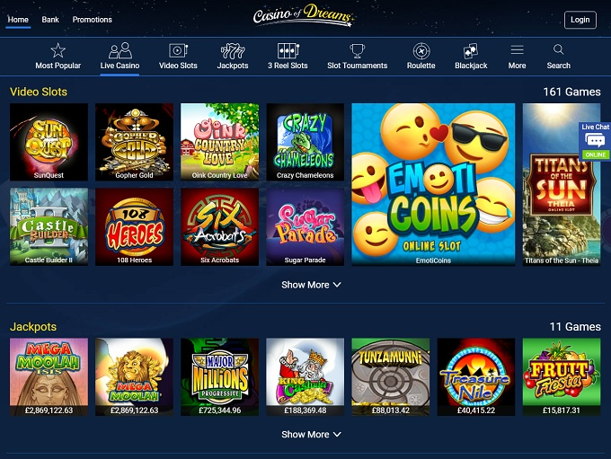 Dreams online casino review Casio - 2019