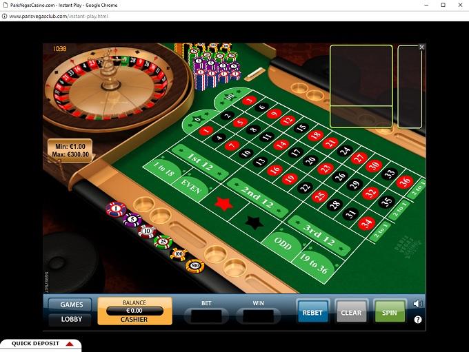 paris vegas casino bonus code