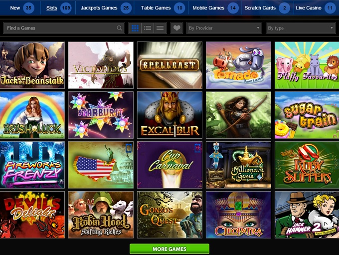 casino games on net