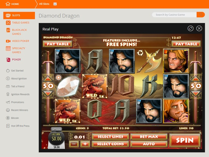 ignition casino free play code