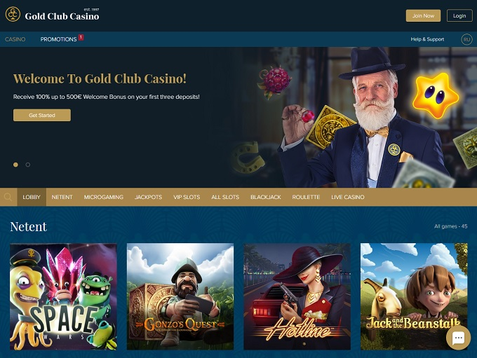 Golden Club Casino Online