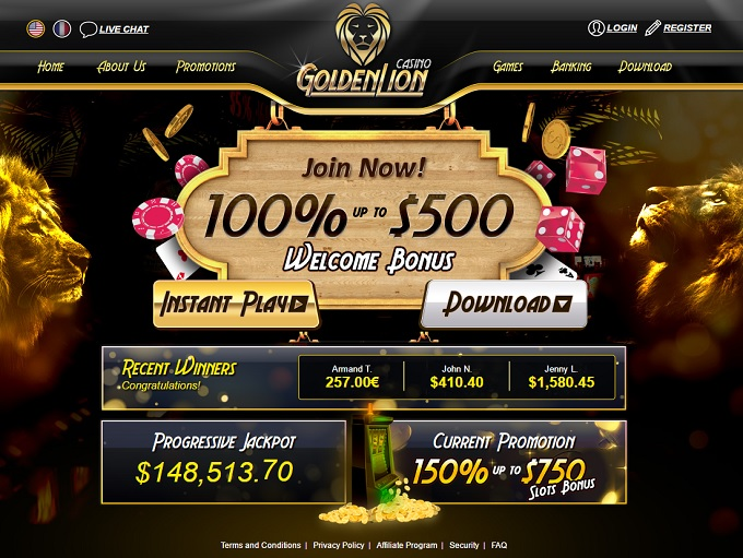 golden lion online casino