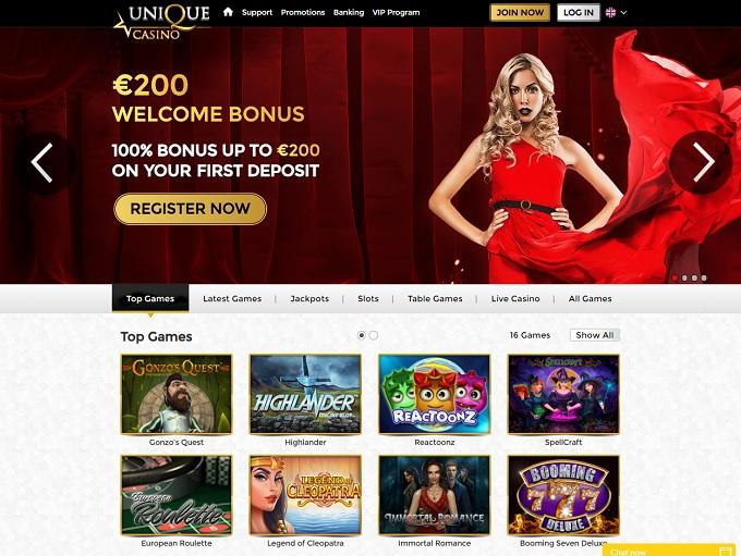 unique online casino games