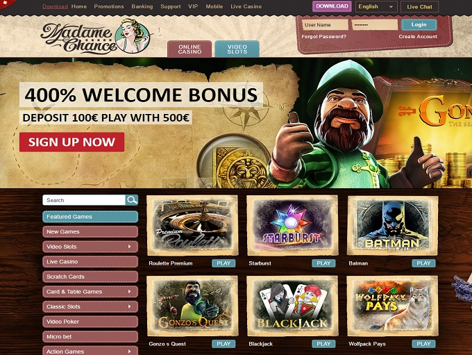 Madame Chance Casino Review – Is this A Scam/Site to Avoid