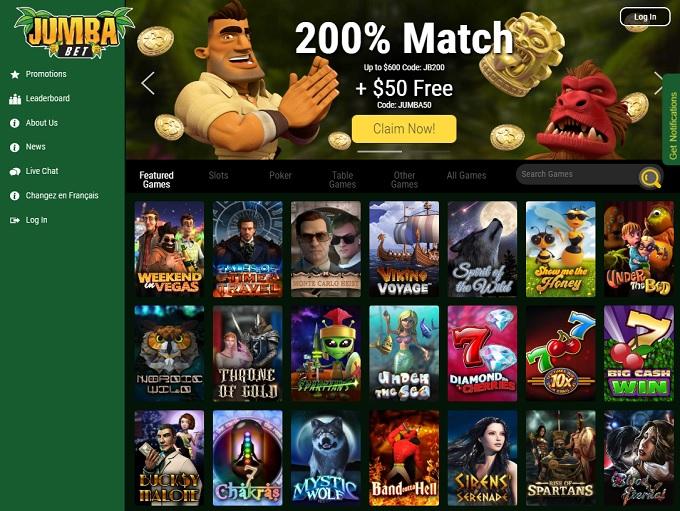 Jumba Bet Casino Online Casino Review