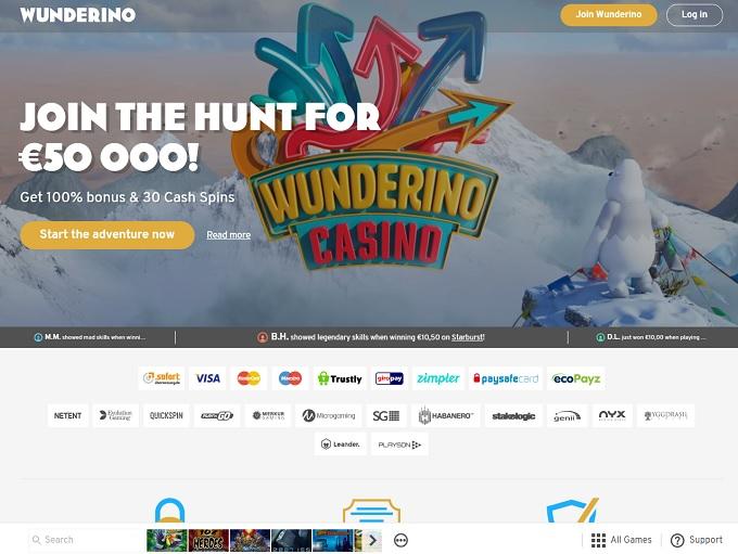 wunderino casino login