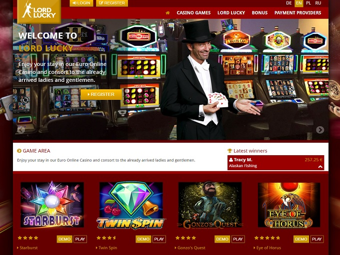 online casino websites lord od