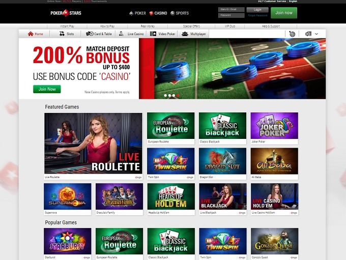 pokerstars casino online slots