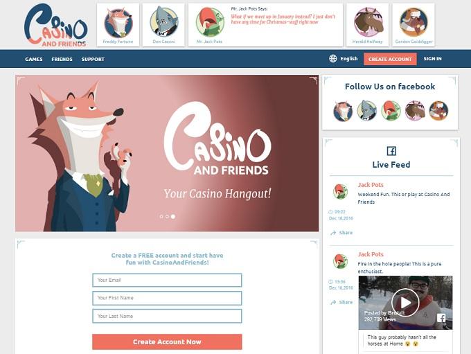 casino and friends bonus code