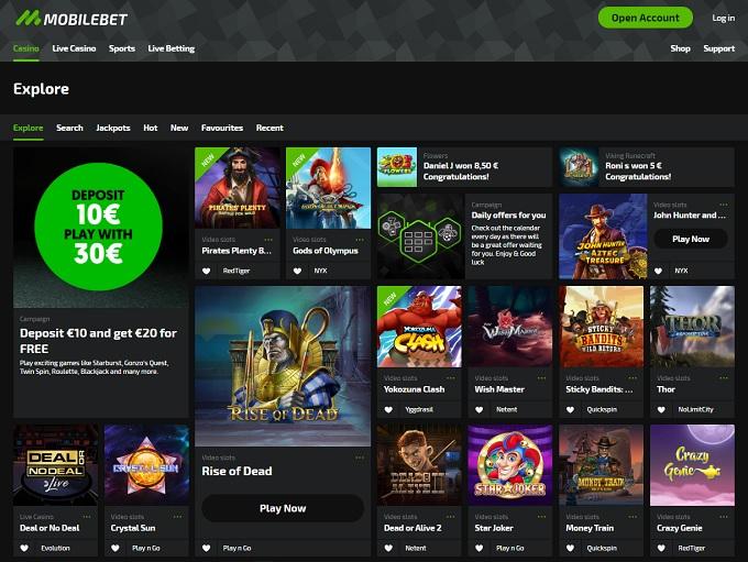 Mobilebet Casino Online Casino Review