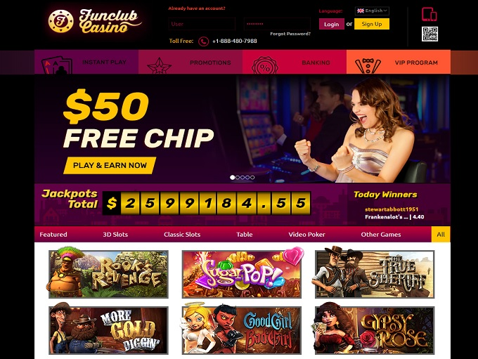 fun club casino no deposit codes