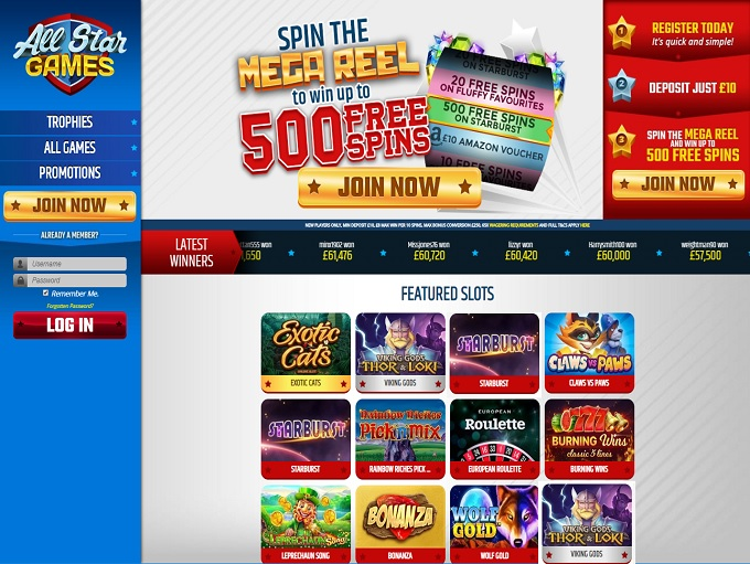 all star games casino review