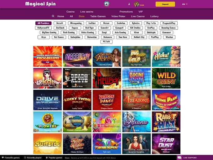 Magicalspin Casino and Bonus Review