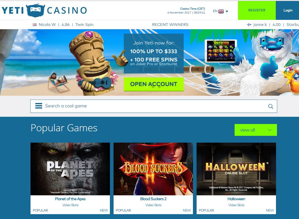 yeti online casino