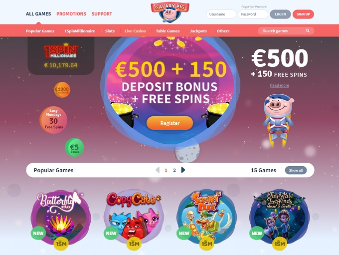 Galaxy Pig Casino Review - Galaxy Pig™ Slots & Bonus | galaxypig.com