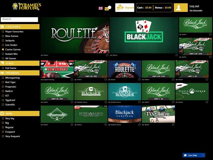 Pyramid Fortune Casino