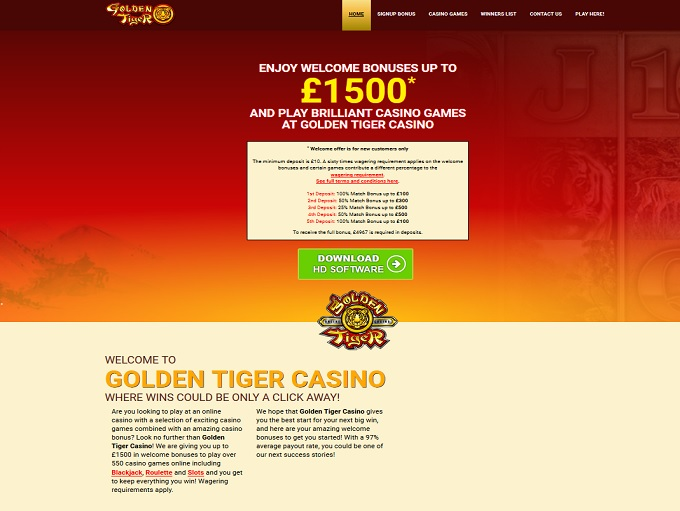 golden tiger online casino