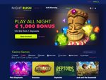 NightRush Casino Home Page