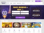 CryptoWild Casino Home Page