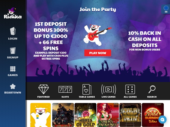 Ridika Casino Online Casino Review