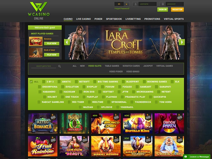 Wcasino Online Casino