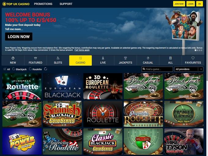 Top Casinos Online Uk