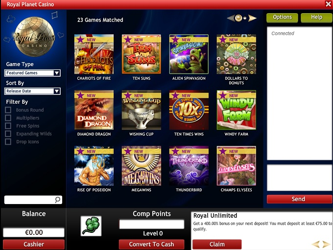 royal planet casino online