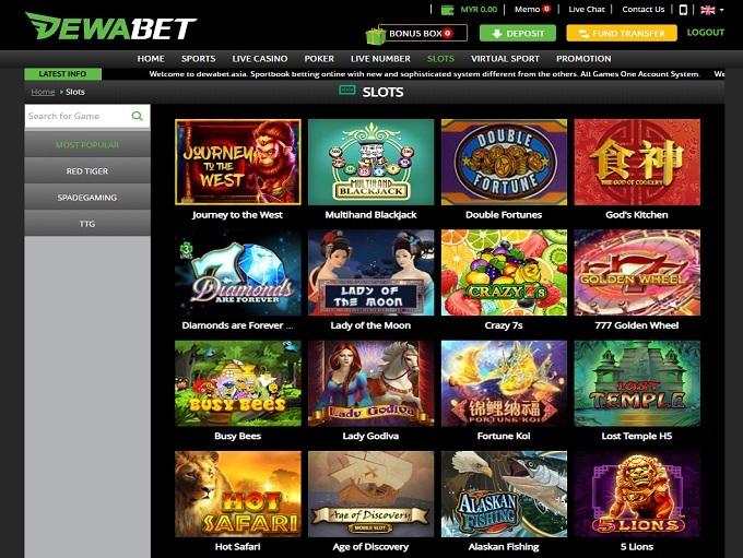 Dewabet Casino Online Casino Review