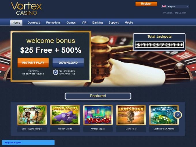 Vortex Casino Bonus Review