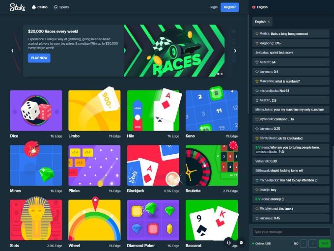 Stake 77 Online Casino