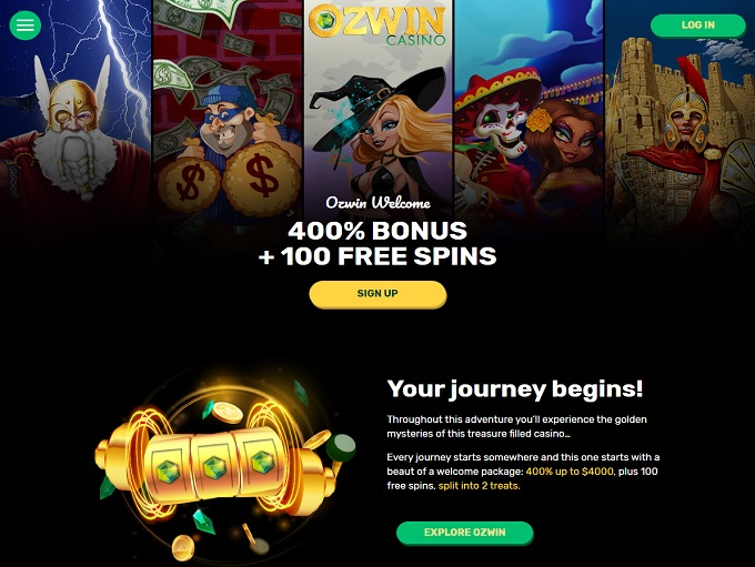 Ozwin Casino Login