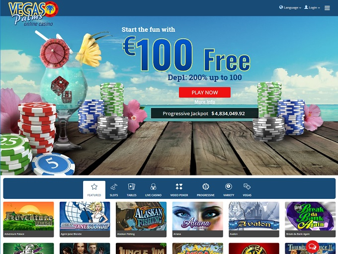 vegas palms online casino flash