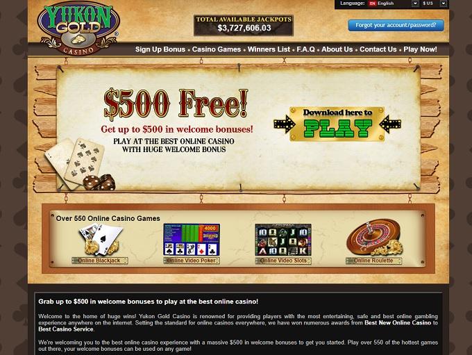 Yukon gold gambling