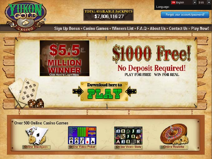 yukon gold casino online game