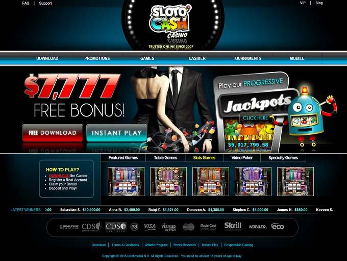 online casinos free cash