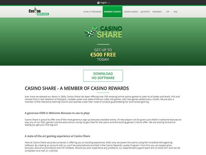 share online casino
