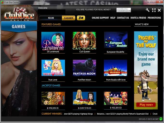 casino online bonus casino games dice