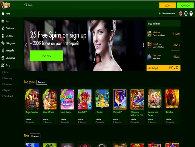 online casino free spins online casino review