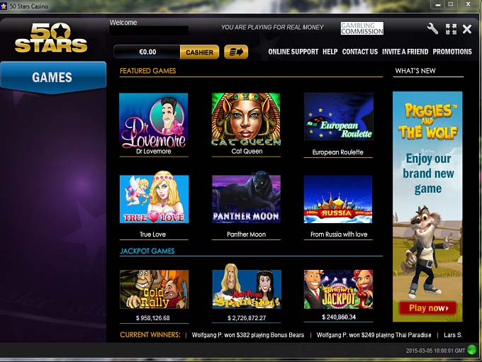 casino online bonus power star