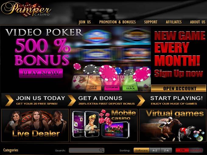 Pamper casino reviews