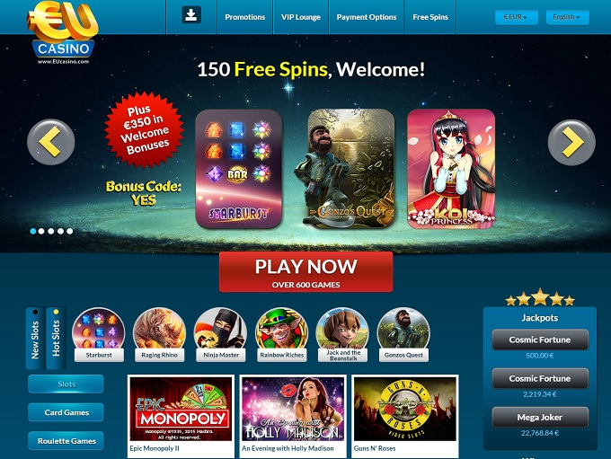 online casino eu sizzling free games