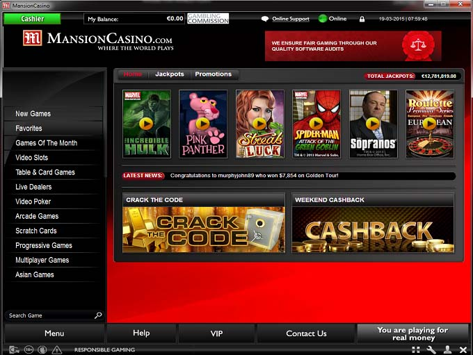 mansion online casino casino deutschland
