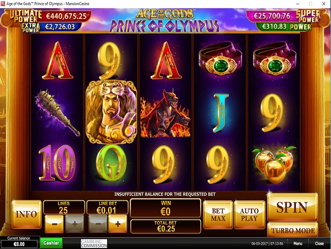 mansion online casino slots n games