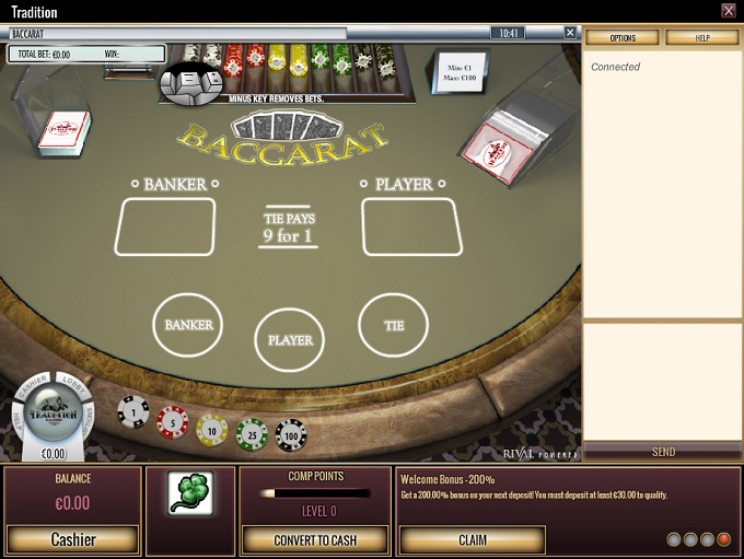 tradition casino online