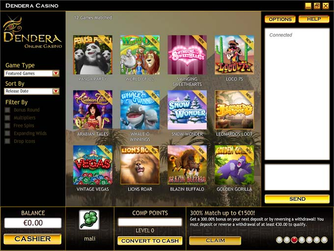 Dendera Casino Review