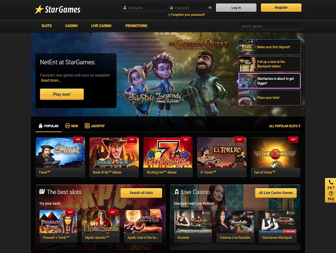 star casino games